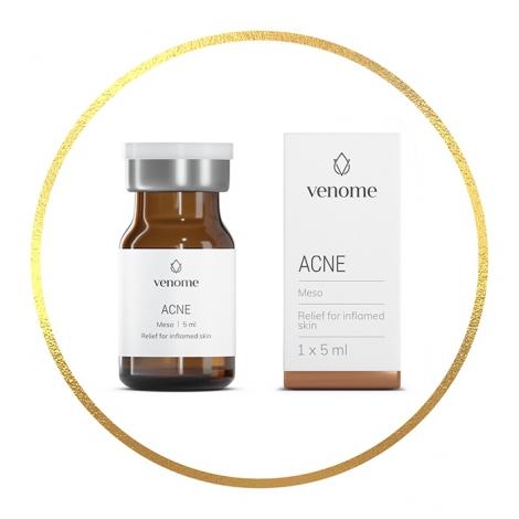Mezokoktajl Venome Meso ACNE 5x5 ml - Wsparcie skóry skłonnej do stanów zapalnych i trądziku