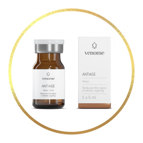 Mezokoktajl Venome Meso ANTIAGE 5x5 ml - Redukcja oznak foto-starzenia skóry