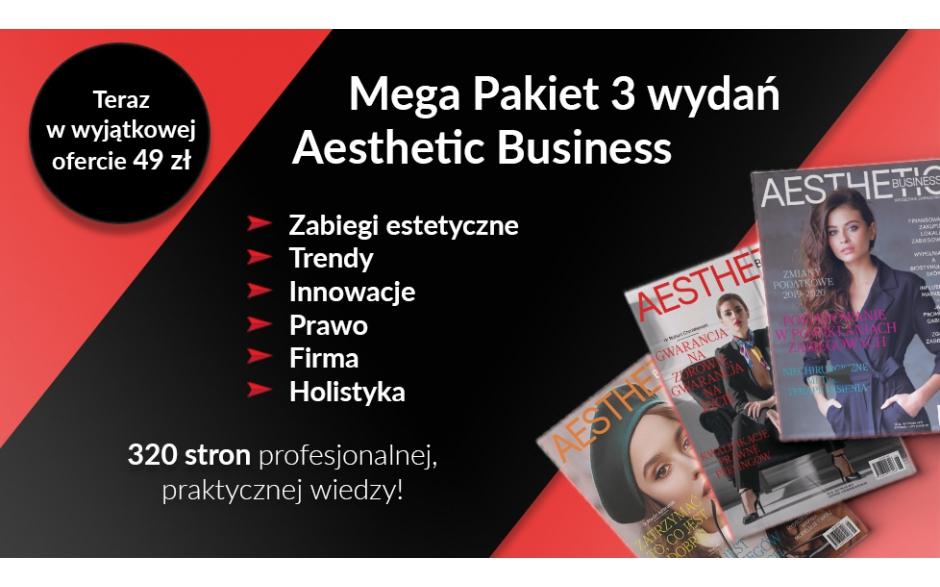 Pakiet 3 numerów Aesthetic Business - niezbędnik zabiegowca! (5/2019, 6/2019, 1/2020)