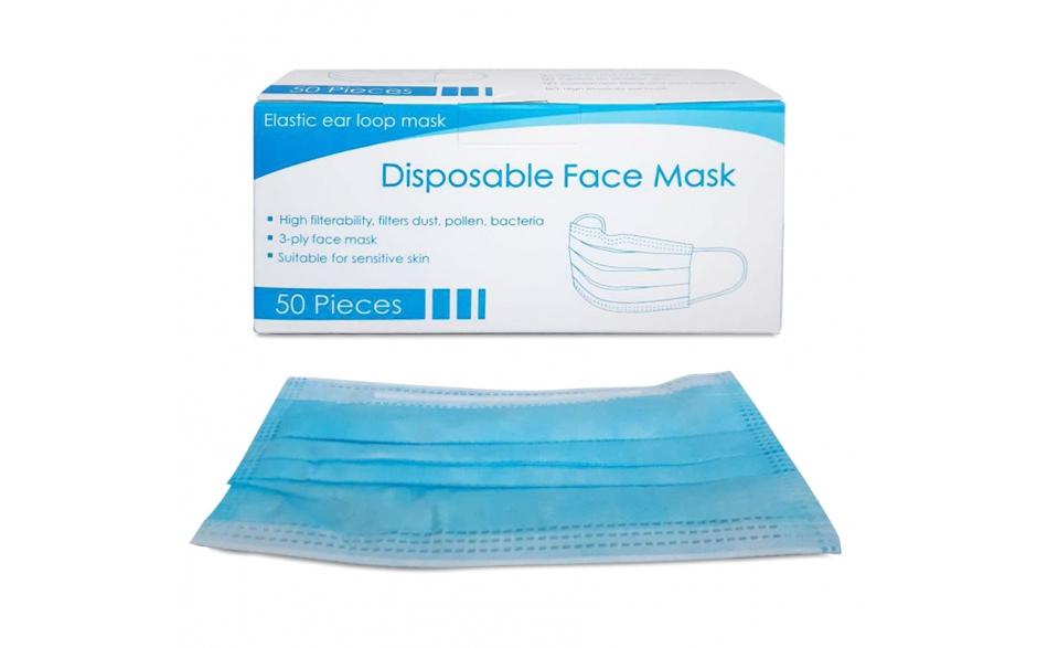 Maska chirurgiczna trzywarstwowa 50szt