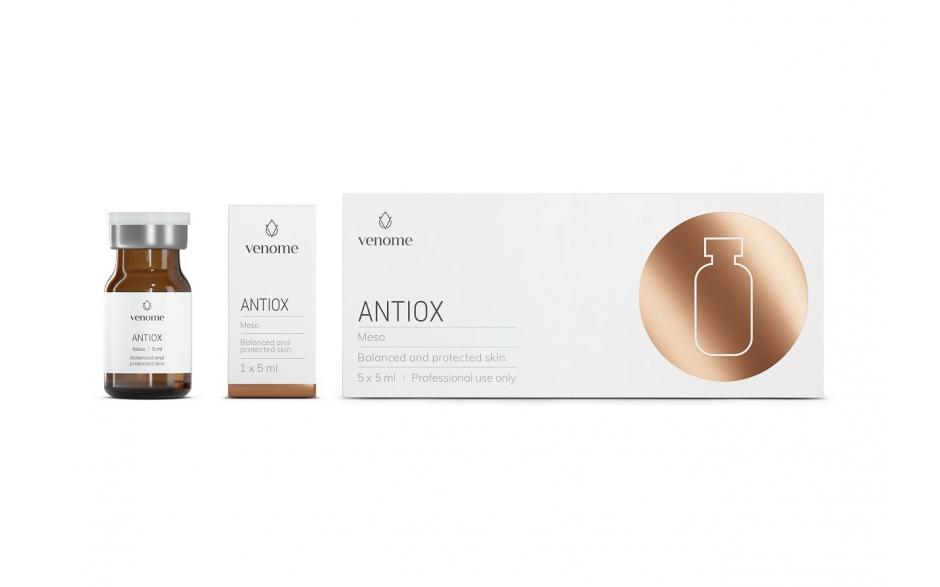 Mezokoktajl Venome Meso ANTIOX 5x5 ml - Antyoksydacyjna tarcza pomocna w walce z przebarwieniami