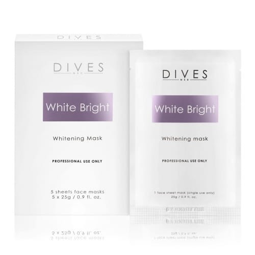Dives med. White Bright Mask - maska depigmentująca 5szt