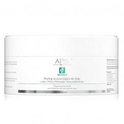APIS API-PODO Peeling oczyszczający do stóp z solą z Morza Martwego i lawą 300g