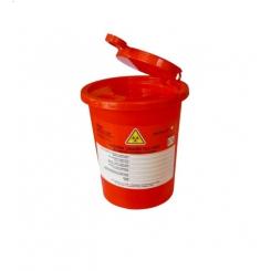 Pojemnik ECO na odpady czerwony 0,7L