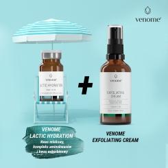 Venome Peel Lactic HYDRATION 40% 6ml + Venome Exfoliating Cream 50ml