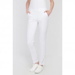 Vena Spodnie rurki CINDY białe  przód