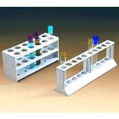 Statyw polipropylenowy 1-rzędowy 10 probówek, śr.18mm 250x60mm